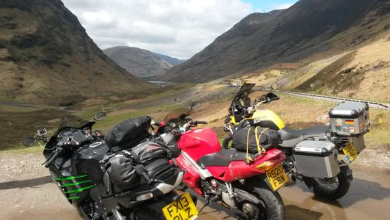 motorcycle tours UK Scotland Glencoe