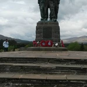 Motorcycle tours Scotland. Royal Marine Memorial Spean Bridge